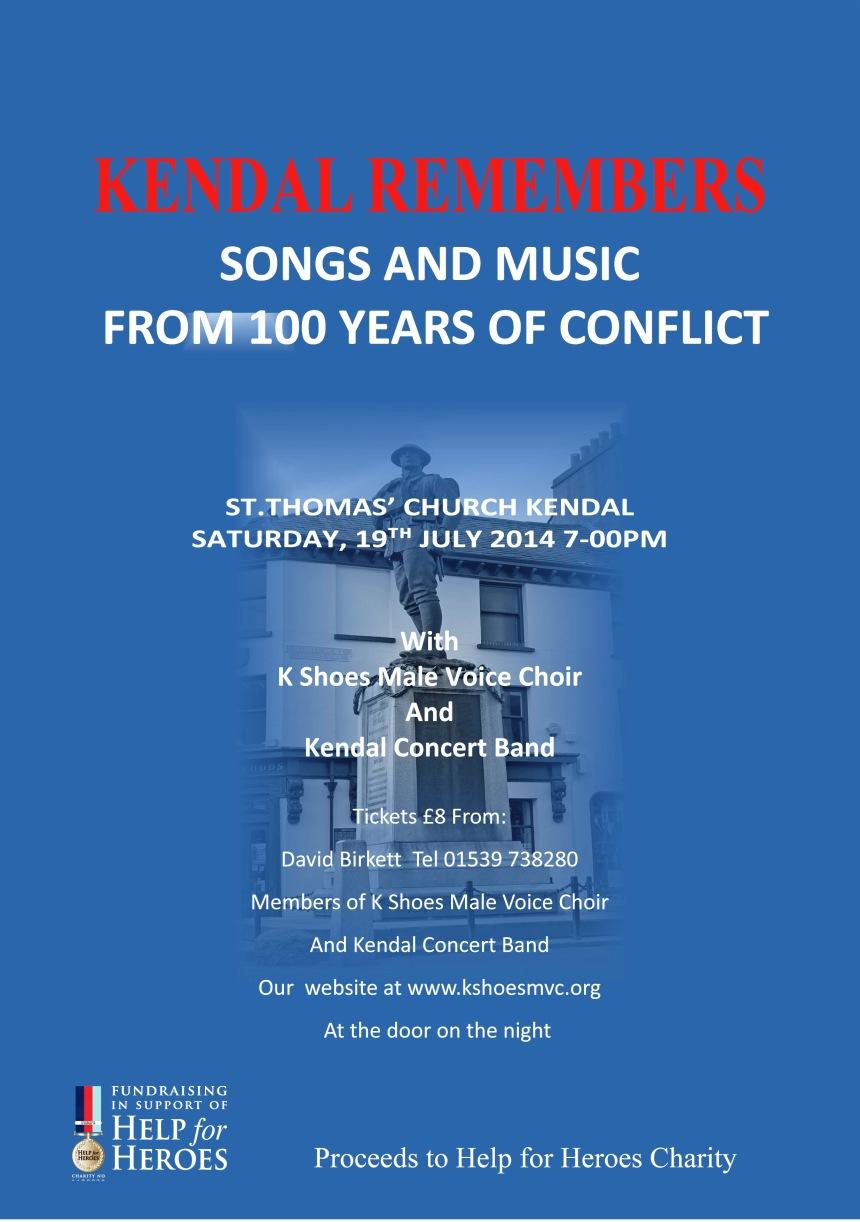 Kendal Remembers poster